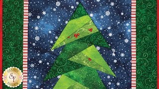 How to do Foundation Paper Piecing: A Little Bit Shorter Tall Tree | A Shabby Fabrics Tutorial