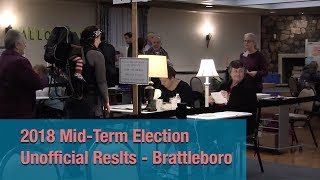 Mid-Term Election Unofficial Results - Brattleboro 11/6/18