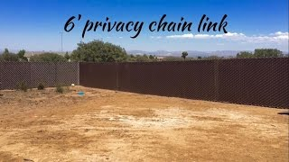 Privacy Link and Chain Link Fence