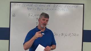 Broker Real Estate Math Practice Exam No 6 Depreciation Calculation