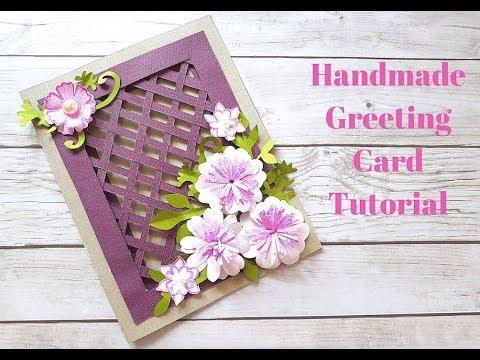 Xxx Mp4 Beautiful Handmade Greeting Card For Birthday Anniversary Festivals DIY Weaving Card Idea 3gp Sex