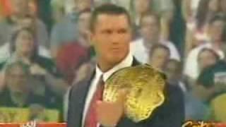 Randy Orton's World Championship Celebration
