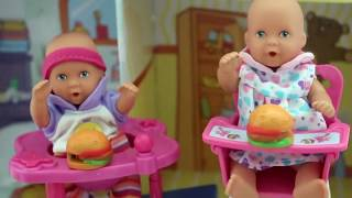 Barbie Baby Doll Potty Training Part 2 - Color poop from Gummy Jello Fun Video My Disney toys