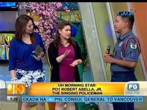 Unang Hirit: UH Morning Star: Singing Policeman