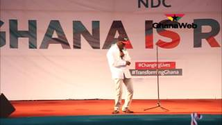 Nii Lante Vanderpuye dances to Shatta Wale's 'Kai Kai' at NDC final campaign