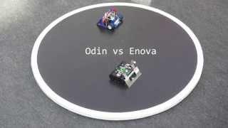 NorBot MiniSumo - Odin 1 vs Enova at RobotSM 2014