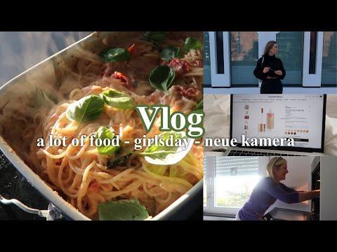 VLOG Girlsday 🤍 wir tryen den TikTok Feta Pasta Trend neues Makeup kleine struggles lol