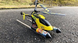 Rocket powered RC Helicopter !! Amazing Reaction