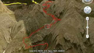 Mallorca Coast to Coast Bike Route including  Sa Calobra 3D Fly Through Google Earth