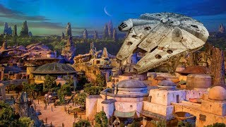 NEW Star Wars Land model UP-CLOSE at D23 Expo 2017 for Walt Disney World, Disneyland - Galaxy