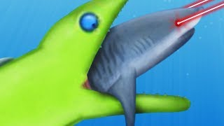 GIANT EEL EATS A SHARK WITH LASER BEAMS - Tasty Planet Forever Mods | Pungence
