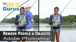 How to Remove People and Objects with Adobe Photoshop from a photo, CS5 CS6 CC Tutorial