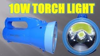 How To Make 10 Watt LED Torch Light from Old Light