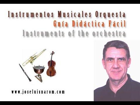 Instrumentos Musicales Orquesta Guía Didáctica Fácil