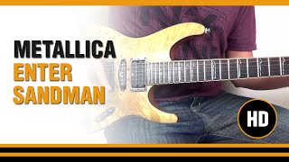 Toca Enter Sandman de Metallica en Guitarra electrica  CLASE TUTORIAL