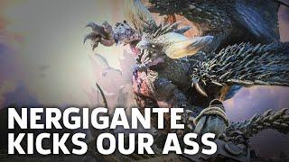 Monster Hunter: World PS4 Beta Gameplay - Nergigante Kicks Our Ass