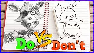 Drawing Five Nights At Freddy's In 1 Minute CHALLENGE!