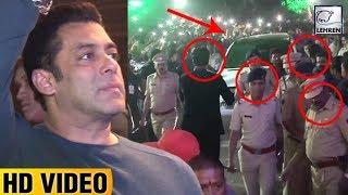 Salman Khan Walks With High Security After Getting Threats From A Gangster   LehrenTV