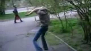Guy Can't Stop Hitting Himself.wmv