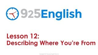 925 English Lesson 12 - How to Talk about Where you Live & Home | English Conversation Lesson