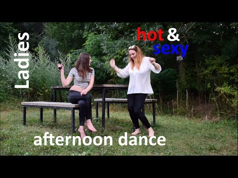 sexy ladies wetlook legging barefoot hot dance