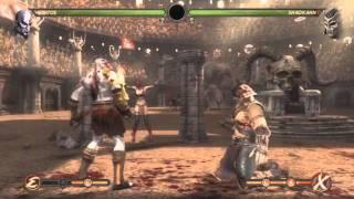 Mortal Kombat - Kratos vs Shao Kahn
