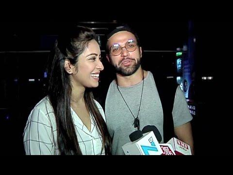 Asha Negi and Rithvik Dhanjani Latest interview At Sargun Mehta's Jindua Movie Screening
