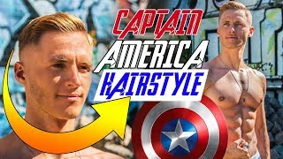 CAPTAIN AMERICA Inspired Hairstyle | Best Avengers Haircut 2018