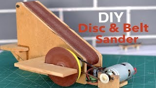 How to make a Disc and Belt Sanding Machine (Most useful home-made tool)