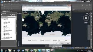 How to Open Google Earth in Autocad Civil 3d 2015 in Urdu