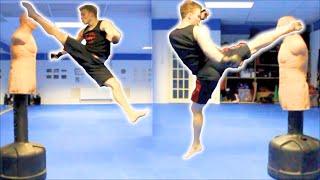 Taekwondo Kickboxing Techniques Sampler on the BOB XL