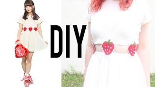 DIY Strawberry Two-Piece Dress   Make Thrift Buy #16