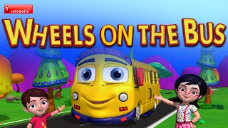 The Wheels on the Bus Go Round and Round Nursery Rhyme for Children