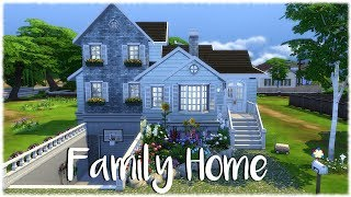 The Sims 4: Speed Build// FAMILY HOME NO CC