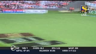 MARTIN GUPTILL SLAMS A CENTURY | NEW ZEALAND VS INDIA 3RD ODI | 25 JAN 2014