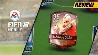 FIFA MOBILE 93 MOTM NAINGGOLAN REVIEW   93 CAM MOTM RADJA NAINGGOLAN PLAYER REVIEW & GAMEPLAY