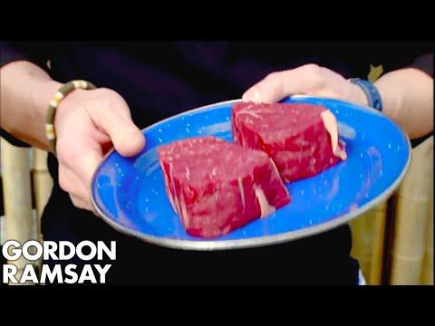 Gordon Cooks Steak For A Vegetarian - Gordon Ramsay
