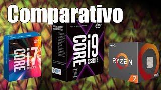 Intel Core i9-7900X vs Core i7-7700K vs AMD Ryzen 7 1800X em games!