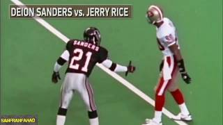 Deion Sanders vs Jerry Rice Summary | NFL Highlights HD