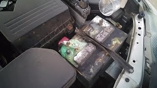 How to clean car battery terminals  corrosion Cheap and EASY with baking soda Car maintenance