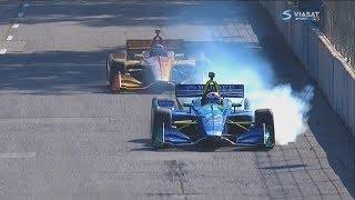 IndyCar 2018. Race 2 Detroit Grand Prix. Last Laps