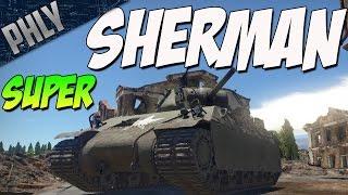 SUPER SHERMAN - T14 American Tank (War Thunder Tanks Gameplay)