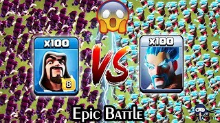 100 Wizard vs 100 Ice Wizard Clash of Clans | Max Wizard vs Ice Wizard COC