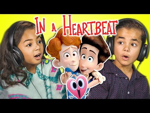 KIDS REACT TO IN A HEARTBEAT (Animated Short Film)