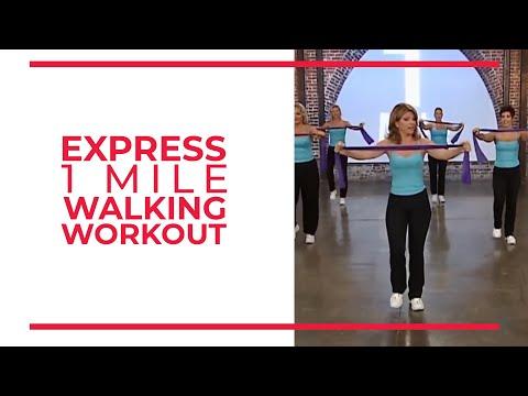 Express 1 Mile Walking Workout Leslie Sansone s Walk At Home