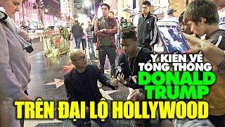 Kẻ yêu người ghét TT Mỹ Donald Trump trên đại lộ danh vọng Hollywood