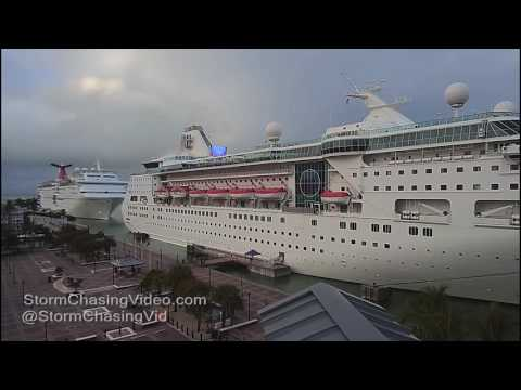 Key West, FL Cruise Ships & Thunderstorms  - 1/13/2017
