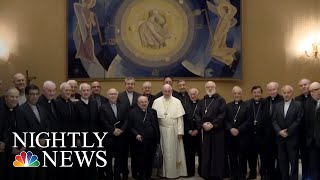 Pope Francis Admits Catholic Church Leaders Failed To Address Priest Sex Abuse | NBC Nightly News