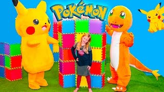 POKEMON GO Assistant Spooky Inflateable Bounce House Surprise Pokemon Hunt Video Parody