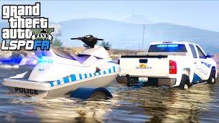 GTA 5 - LSPDFR Ep380 - Police Jet Ski Alamo Sea Patrol!!